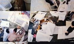 南山区海雅缤纷广场商铺海康半球摄像头安装 深圳安装监控工程布线