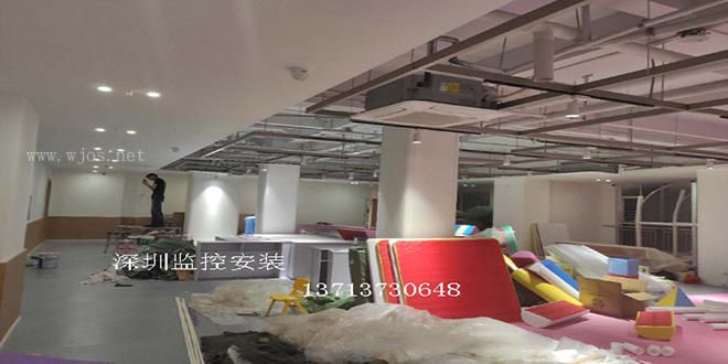 深圳南山西丽早教中心海康半球监控头28.mm安装监控工程.jpg